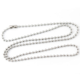 """10pcs Silver Tone Stainless Steel Dog Tag Chains,2.3mm Ball Bead Chain Ball Chains for Necklaces Keychains 22"""" 55cm Wholesale WS-27"""