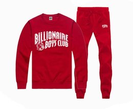 Wholesale Famous brand men hip hop suit hoodies pullover bbc Billionaire Boys Club sweatshirt pants tracksuit clothing sudaderas moleton masculino