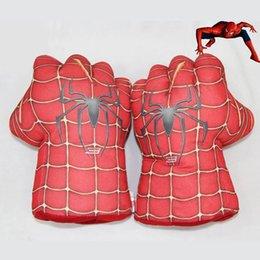 Boîte d'araignée jouet en Ligne-2 Styles 2pcs / paire Superhero The Hulk Spider-Man Grimm enfants Gants de boxe Figure Enfants Toy livraison gratuite