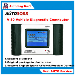 Wholesale Autoboss V30 update via official website Autoboss V30 SPX Autoboss V30 English Spanish Russian French German package in plastic case
