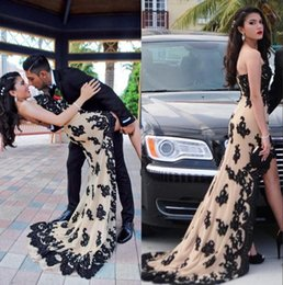 High low sexy prom dresses long 2017 sweetheart black applique bodice vestidos de novia zipper back evening gowns for party