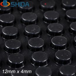 Wholesale 320 mm x mm Black and Clear anti slip silica gel rubber plastic bumper damper shock absorber M self adhesive Silicone feet pads