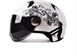 Wholesale Stylish Motorcycle Electric seasons open face helmet half helmet summer helmet safety for men and women