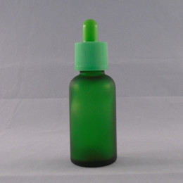 30 ml Circular Green Frosted E Liquid Glass Bottle tamper proof dropper bottles for child safety dropper Bottle Wholesale Free shipping