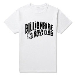 Wholesale BILLIONAIRE BOYS CLUB T Shirt Tee BBC T Shirts Men s Hip hop Skateboard T shirts Cotton Tops JDF0421