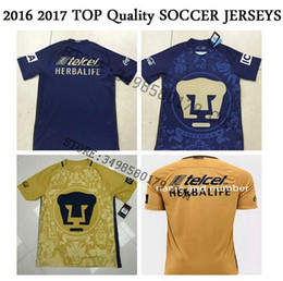 Wholesale Best Quality Mexico Club cougares Camiseta de futbol Centenary Golden blue Shirts Men SOCCER SHIRT