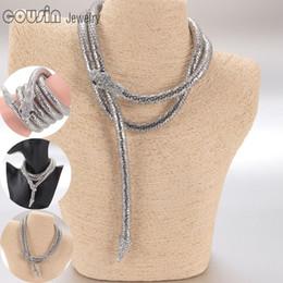 Wholesale New Fashion Bracelet Snake bangle bracelet multifunctional Punk Coiled Snake Arm Cuff Magnetic Bangle Bracelet waistband necklace jewelry