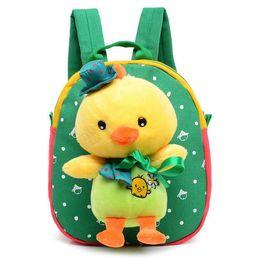 Baby Diaper Cartoon Fashion Girl Boy Brand Food Storage Bags Mother Brand Designer Shoulder Plush School Children Lunch Backpacks S1124