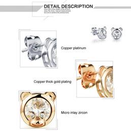 Woman's Monkey Animal Lovely Stud Earrings Fashion 18K Gold Platinum Plated Women's Vintage Jewelry Gift Earring