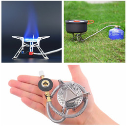 Wholesale-Ultralight Dpower Aluminum Alloy Stainless Steel Outdoor Burn Camping Gas Stove Gas-powered Stove with Piezo Ignition Hiking