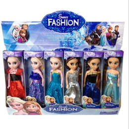 Wholesale Anna Elsa Princess Dolls Frozen Boneca Elsa And Movie FROZEN Anna Good Girl Doll cm High Toy for Kids Boys Girls Christmas Gift