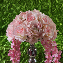 Free shipping!10pcs lot wedding light pink road lead artificial flowers wedding centerpiece flower balls decorati