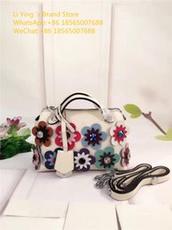 Wholesale 2016 Italian luxury brand by the way of new style flowerland original quality women genuine leather handbags
