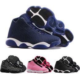 Descuento hombres zapatos nuevos estilos Zapatos baratos al por mayor de los hombres de los zapatos de baloncesto retros 13 XIII horizonte PSNY 2016 nuevo estilo que tejen cargadores de los deportes Tamaño libre 5.5-13