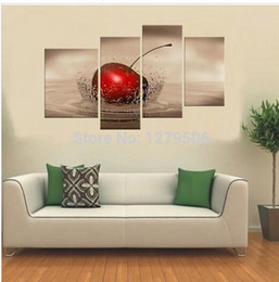 Hand Painted Modern Abstract Oil Paintings On Canvas Wall Art Paintings Home Decorations Make The Life Be Like A Fresh Cherry