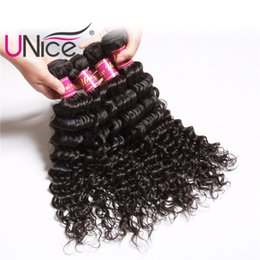 UNice Hair Virgin Brazilian Deep Wave 4 Bundles 12-26 inch 100% Human Hair Extensions Wholesale Cheap Weft Bundle Remy Hair Products