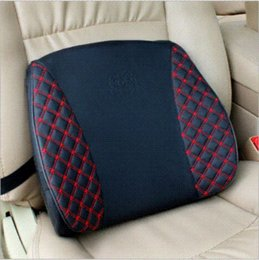 Acheter en ligne Oreillers de soutien lombaire-Nouveau 2014 3 couleurs voiture lombaire coussin siège de voiture chaise massage Retour lombaire soutien oreiller voiture styling lombaire oreiller auto fournitures