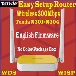 Wholesale English Firmware N300 Tenda Wireless Rrouter Home networking WIFI repeater Access Point Mbps Ports g b n N301 N304 model