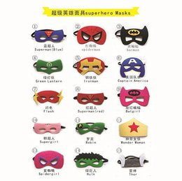 Wholesale Halloween Party Costumes Superhero Masks Superman Hulk Wonder Women Batman Thor Flash Captain America Kids Gift