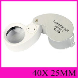 Wholesale MG21011 illuminated Loupe LED Light x mm Magnifier jewelry Loupes Magnifying Glass Jeweller Magnifiers Illuminated Microscope