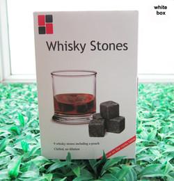 Wholesale Christmas gift Whiskey Rocks set in Delicate Gift Box Velvet Bag Whisky stones Wedding Decoration