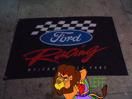 100% polyester 90*150cm,Ford car racing team flag,Digital Printing,Ford car club banner