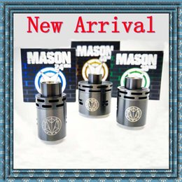 Wholesale Newest Mason RDA Stainless Steel Rebuidable Dripping Atomizer Multiple specification mm mm mm Huge Vapor posts high quality DHL free