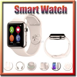 Wholesale 1 inch Wearable Goophone Smart Watch MTK2502C IPS mAh Battery Heart Rate Tester Bluetooth Sports Wrist Watch for IOS Android Smartphone