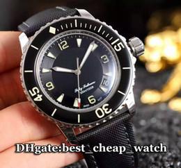 Wholesale Super Clone Brand Watch Fifty Fathoms Automatic Mens Watch MM Black Silver Bezel Fathoms Cheap Best Gent Watch Wristwatche