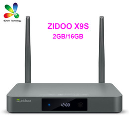 Wholesale DHL ZIDOO X9S Android6 TV Box Realtek RTD1295 Quad Core G G HDMI OUT IN KODI Smart TV Russian Hebrew IPTV Europe Media Player