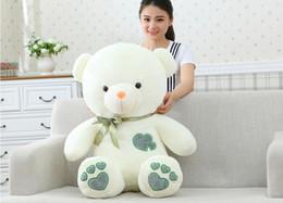 60 cm teddy bear plush toys wedding dolls press hold bear doll doll pillow birthday girl free shipping