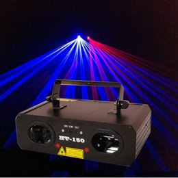 Wholesale 2016 Best Sales HT RB Red and Blue Stage Laser Lighting with DMX512 DJ Party Disco Club Laser Projector Light Christmas Holiday Lights