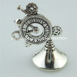 Wholesale 14622 Alloy Antique Silver Vintage Clock Gear Gramophone Pendant Charm
