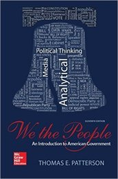 Wholesale 2016 We The People An Introduction to American Governmen th Edition by Thomas E Patterson Author