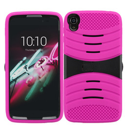 2016 Newest Cheap PC Silicone Rugged Case Defender Armor Cases Hybrid Kickstand Back Cover for Alcatel Stellar Alcatel Fierce 4 Pop 4 Case