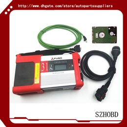 Wholesale 2016 Top quality Mitsubishi Fuso C5 Diagnostic Kit Mitsubishi Fuso SD Connect Compact with software in HDD car diagnostic scanner