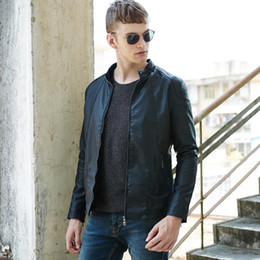 Fall-New men's fashion casual men's leather jacket motorcycle jacket, brand design free shipping