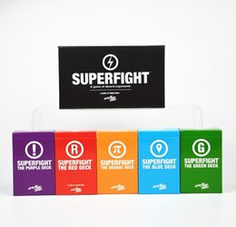 Wholesale NEW superfight basic plus expansion cards game cards game for party game super fight game