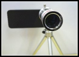 Wholesale 18X Zoom Magnifier Micro Telephoto Telescope Camera Lens with Mini Tripod for Iphone s phone camera lens