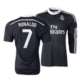 Wholesale top Thai Quality Black Dragon Real Madrid Soccer jersey Long Sleeve