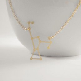 Wholesale 10pcs Gold Silver Orion Constellation Zodiac Linking Stars Charm Necklace Outer Space Universe Solar System Necklaces N104