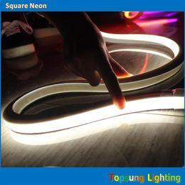 164' spool 16x16mm square flat SMD LED neon rope lights flexible strips red yellow blue green white 110v 120v 115V 127V