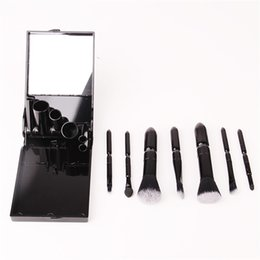 Mybasy professional cosmetic tools fashional beauty protable 7pcs makeup brushes sets