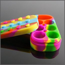 Wholesale Colorful Nonstick Wax Containers Silicone Box Large Size In Set Wax Oil Can Non stick Wax Jars Dab Storage Food grade Silicone
