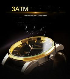 Acheter en ligne Le commerce de la peau-La montre étanche de la peau commerce extérieur montre d'affaires hommes de loisirs à quartz suisse 348 YAZOLE marque des hommes