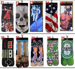 Wholesale 190 Styles d Printed socks for women men hip hop Sports Stocking d odd cotton skateboard socks Unisex Sex for adult big kids