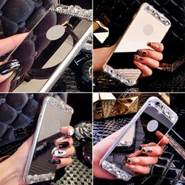 Luxury Crystal Mirror TPU Gel Case Cover Skin For iPhone6 6S 6 Plus 6S+