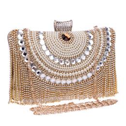 Wholesale fashion diamond crystal evening handbag High class Club banquet bride ladies luxury bag evening clutch bags with rhinestone chain