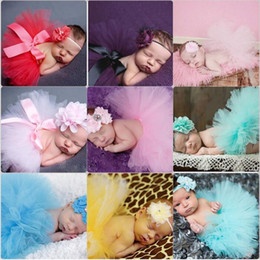 Pettiskirt Newborn Photography Props Lovely Toddler Infant Costume Outfit Princess Tutu Skirt Dress Headband Baby Girls Photography Props