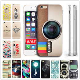 Wholesale-2016 New Luxury TPU Soft Case Transparent Clear Back Case Cover For iPhone 6 6S Insta Camera